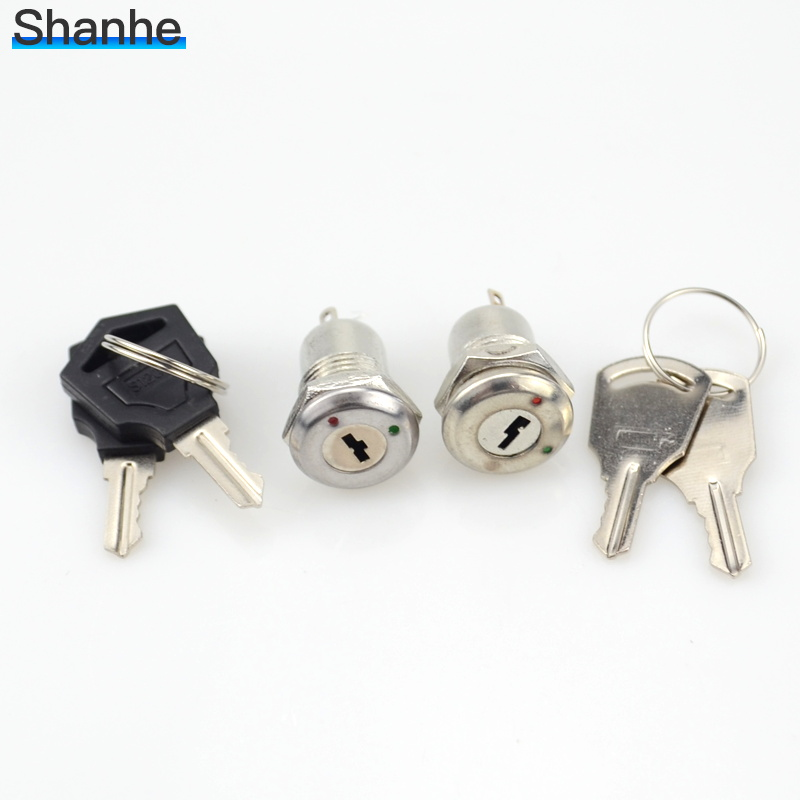 100pcs Key Switch ON OFF Lock Switch