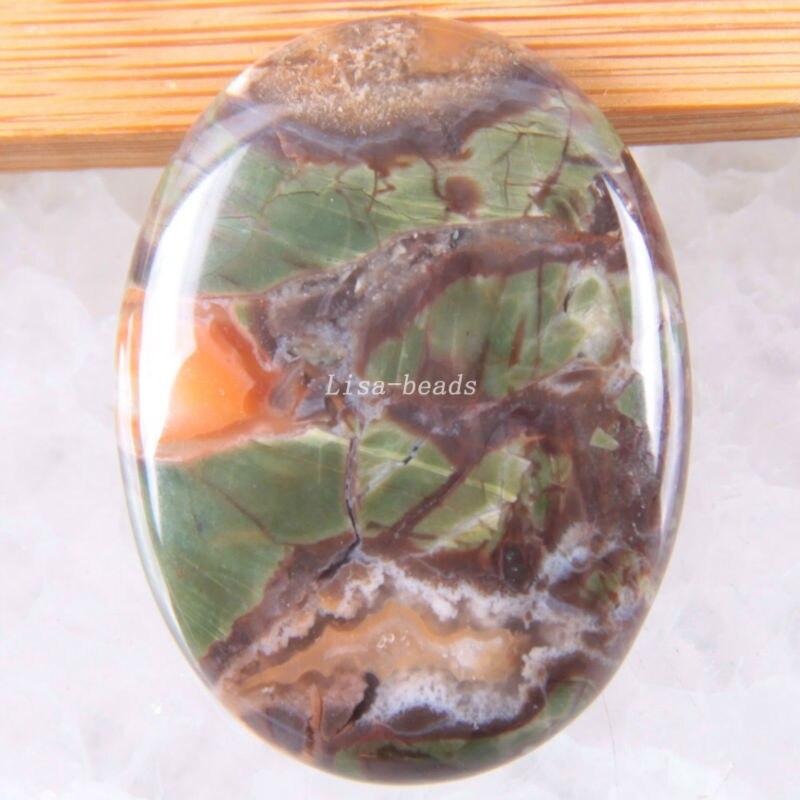 Free Shipping Fashion Jewelry Oval 30x40MM Natural Multi-color Jaspe CAB Cabochon 1Pcs K1693