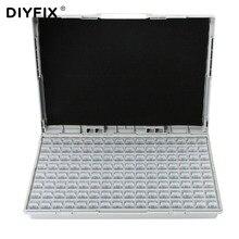 DIYFIX корпус SMD SMT IC резистор конденсатор чехол для хранения электроники органайзеры ESD безопасные прецизионные компоненты корпуса коробки