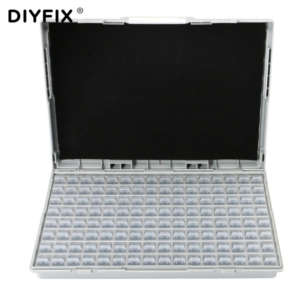 DIYFIX Enclosure SMD SMT IC Resistor Capacitor Electronics Storage Case Organizers ESD Safe Precision Component Enclosures Boxes
