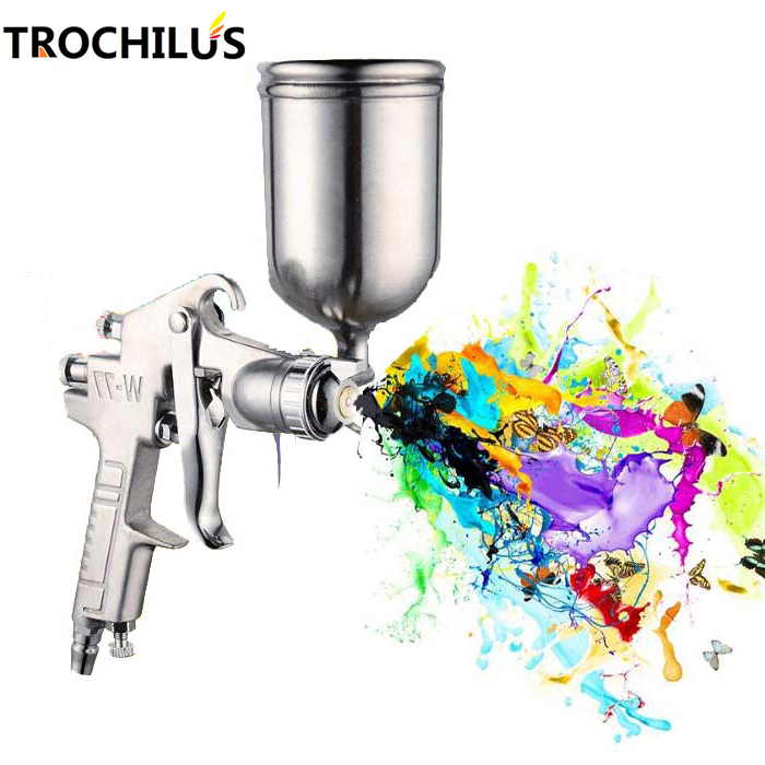W77 Professional Pressure Pneumatic Spray Gun Multifunctional Alloy Painting Atomizer Tool Diameter 2.5mm Spray Paint tool automatic pneumatic pressure barrels paint mixing bucket irrigation spray paint tool 20l with 3m paint tube