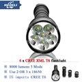 10000 люмен Мощный Фонарик 6T6 Съемный светодиодный фонарик CREE XML T6 3 х 18650 Аккумуляторная Батарея Портативный 5000 люмен
