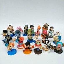 RANDOM 10pcs/lot One Piece Action Figures Toy Plastic PVC Cartoon Models Dolls Toys for Children Car Decor
