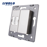 Manufacturer Livolo Grey Plastic Materials 45mm 22mm EU Standard Function Key For HDMI Socket VL C7