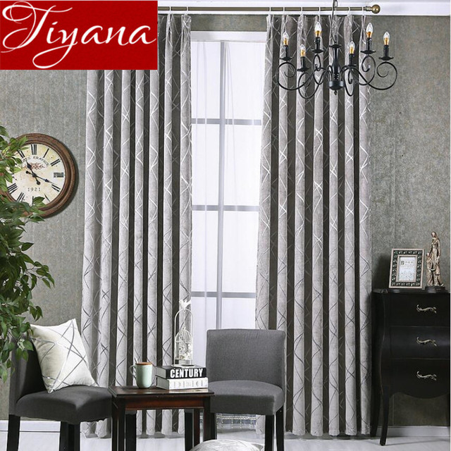 Jacquard Curtains Chenille Thickening Window Curtains Modern Living Room Bedroom  Curtains Drapes Shades Fabrics Rideaux Tu0026293