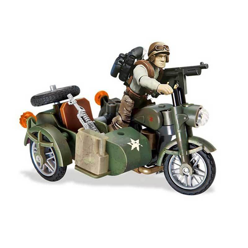 Sidecar Motorcycle Call of Duty Building Blocks Bricks Military Model Soldiers