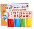 Juguetes del bebé Educación Bloques de Construcción de Juguetes de Inteligencia De Madera Palos de Conteo Montessori Matemáticas Caja De Madera Regalo de Los Niños