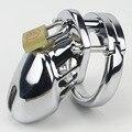 Небольшой Мужской Целомудрие устройство Для Взрослых Cock Cage С Кривой Кольцо Крана БДСМ Секс Игрушки Рабство Человек пенис пояс Верности