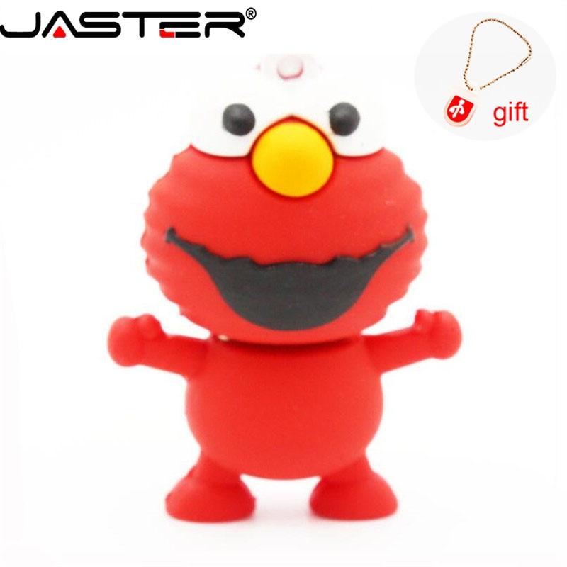 JASTER 100% Real Capacity Memory Stick 2GB 4GB 8GB 16GB 32GB Mini Elmo USB Flash Drive From SESAME USB Pen Drive U Disk