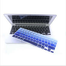 Gradual Blue Silicone Laptop keyboard Skin Protector Cover film Guard for Apple Macbook Pro Air Retina