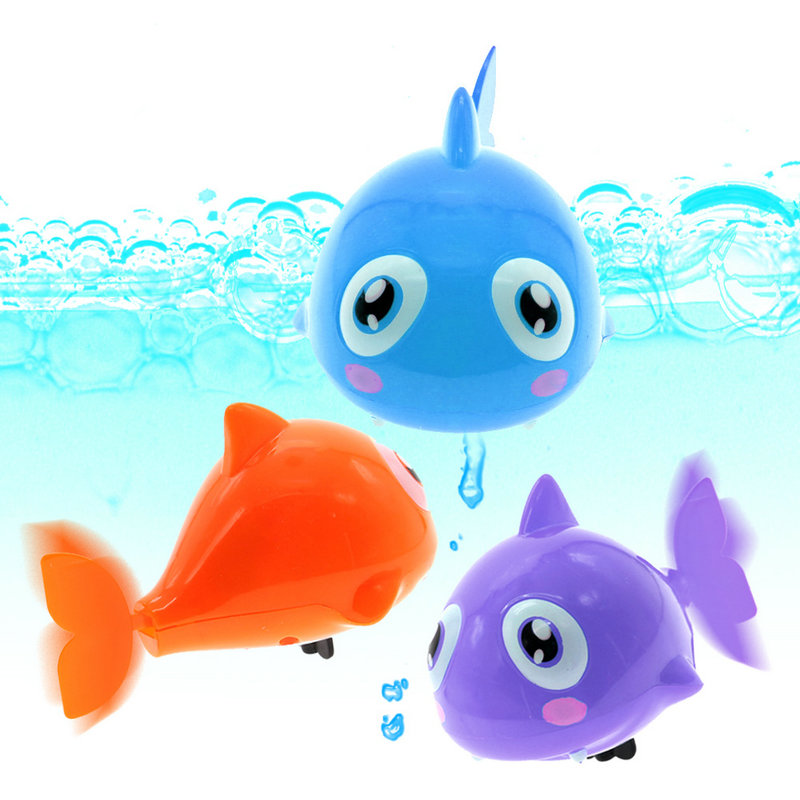 Bath Bathtub Toys Best for Baby Toddler Kid Cool Fish Wind Up Water Swimming