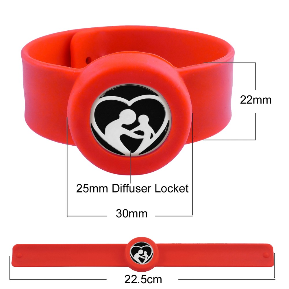 ZP-BS910-0 Silicone Diffuser Locket Bracelet-7