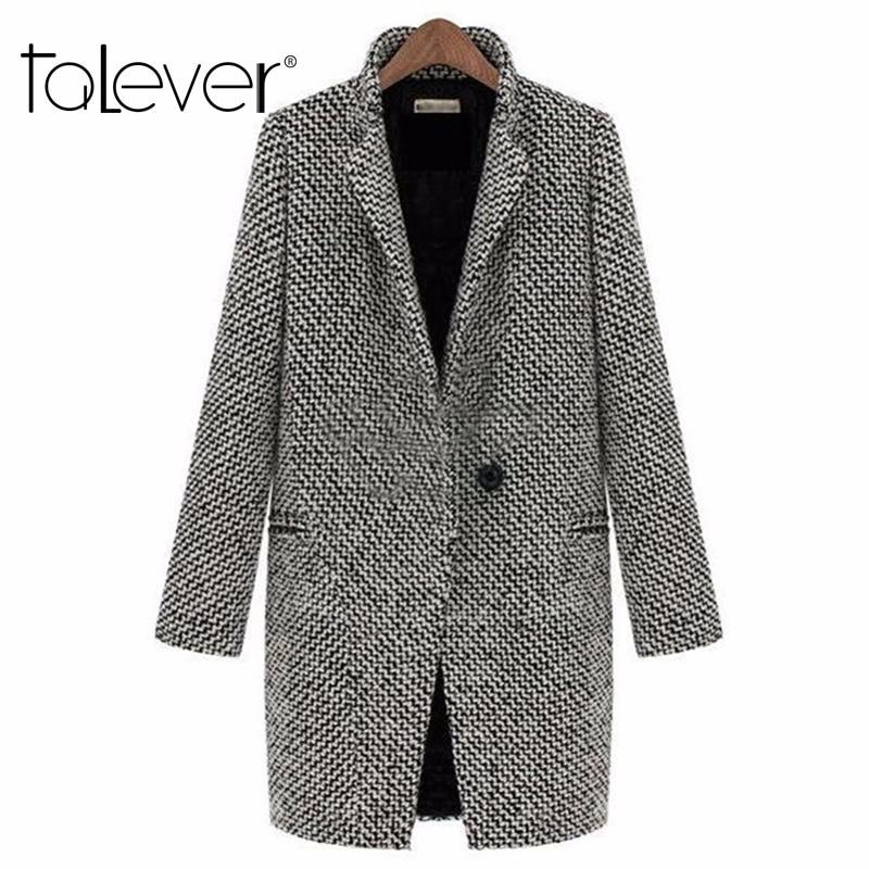 2017 Spring Autumn Women's Wool Coat New Fashion Long Woolen Coat Single Breasted Slim Type Female Autumn Winter Wool Coat
