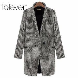 6061a313510 talever Women s Long Woolen Coat Female Wool Coat