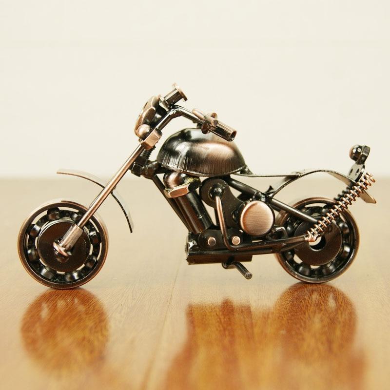 ჱseries motorcycle model Tieyi ornaments, nostalgic metal texture ...