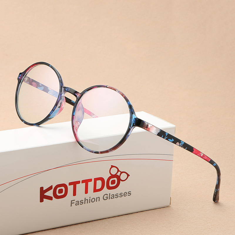 KOTTDO 2019 New Round Glasses Frame Fashion Blue Light Myopia Glasses Men And Women Eyewear Frame Student Prescription Glasses