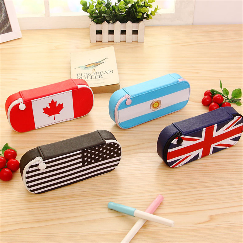 Korean England Flag Creative Pencil Case Stationery Store Pen Bag Pouch School Holder Pencilcase Supply Purse Bts Box Organizer