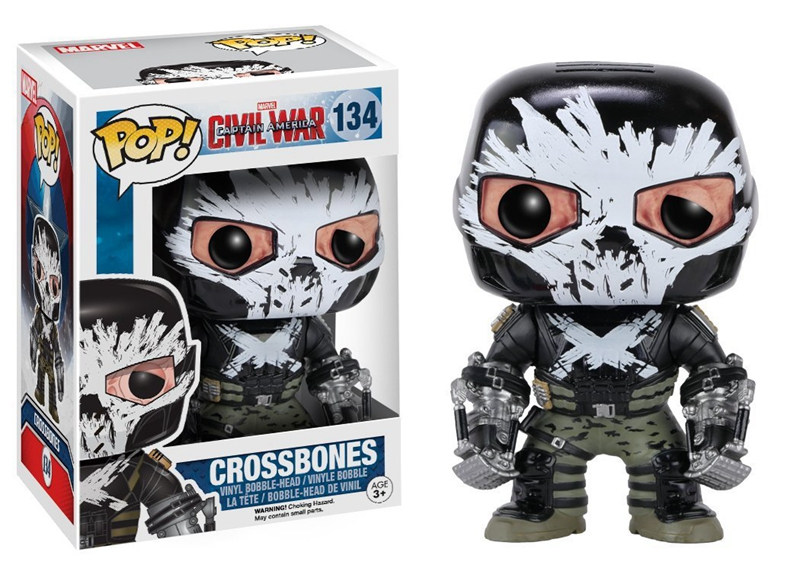 Civil Protection Toys : Original funko pop marvel civil war crossbones figure