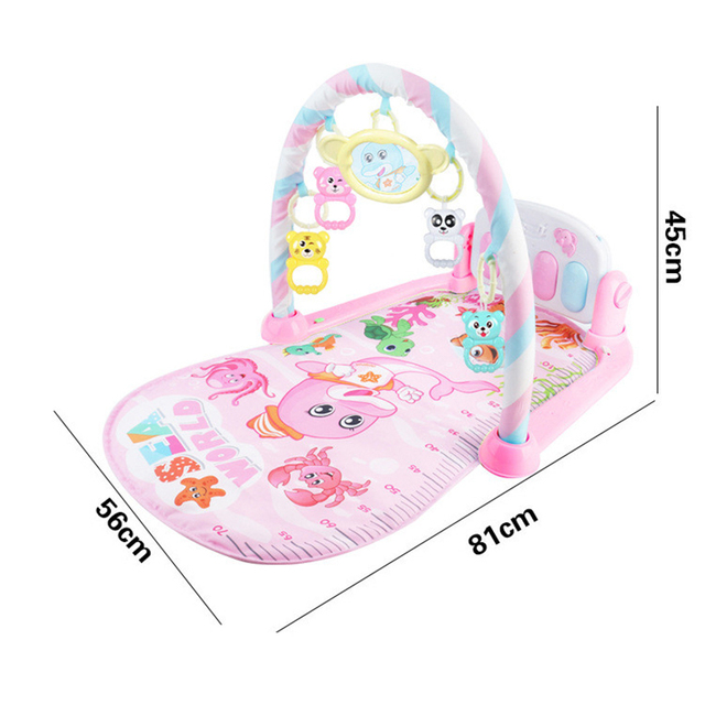Baby Fitness Bodybuilding Frame Pedal Piano Game Blanket Newborn Rocking Chair Activity Kick Play Education Toy Music Carpet 5