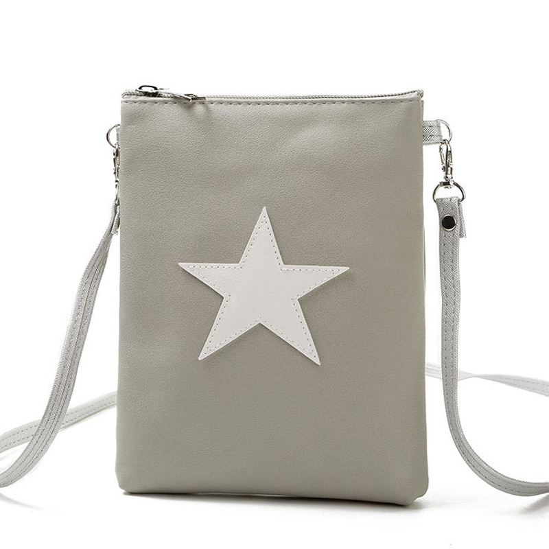 Fashion Women Mini Shoulder Bag PU Leather Star Design Zipped Casual Crossbody Messenger Bags Ladies Girls Gifts WML99