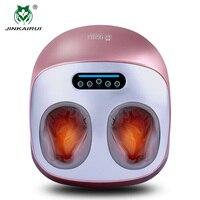 JinKaiRui Electric Vibrator Foot Massager Health Care Massage Infrared Heating Therapy Shiatsu Kneading Air Pressure Machine