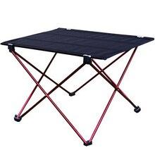 1pc חיצוני מתקפל שולחן קל במיוחד אלומיניום סגסוגת מבנה נייד קמפינג שולחן ריהוט מתקפל פיקניק שולחן