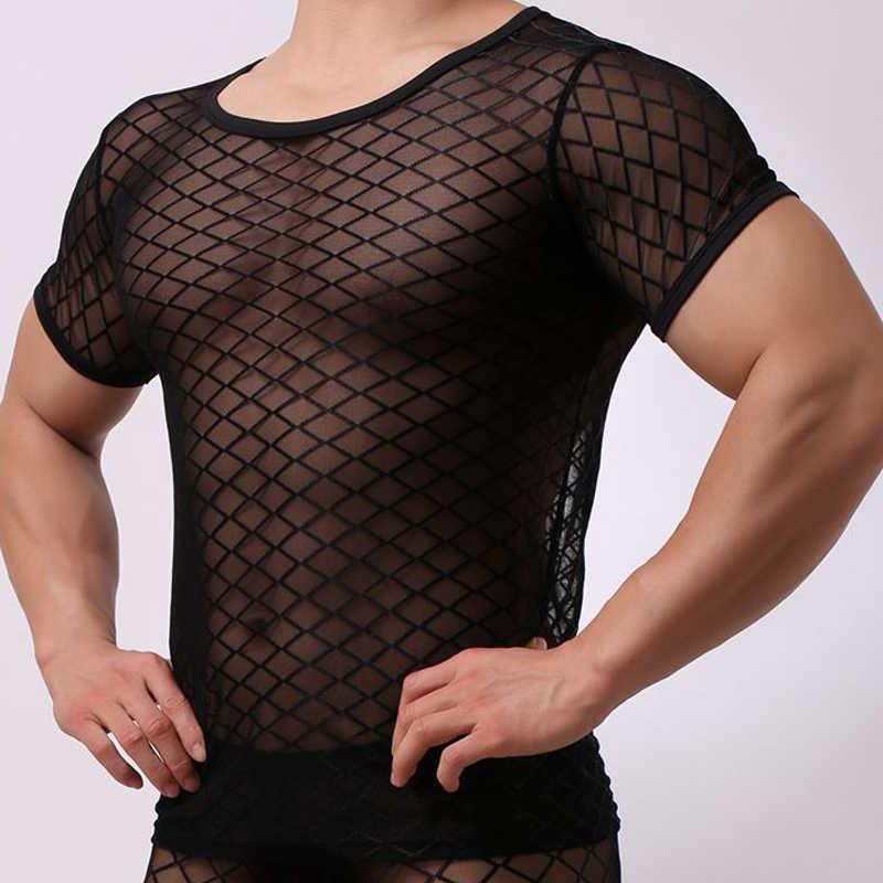 Пикантные Для мужчин прозрачные, со стразами из сетчатого материала сетчатая кофта сексуальное нижнее белье в полоску прозрачная безрукавки для женщин, для ночного клуба, эротическое белье