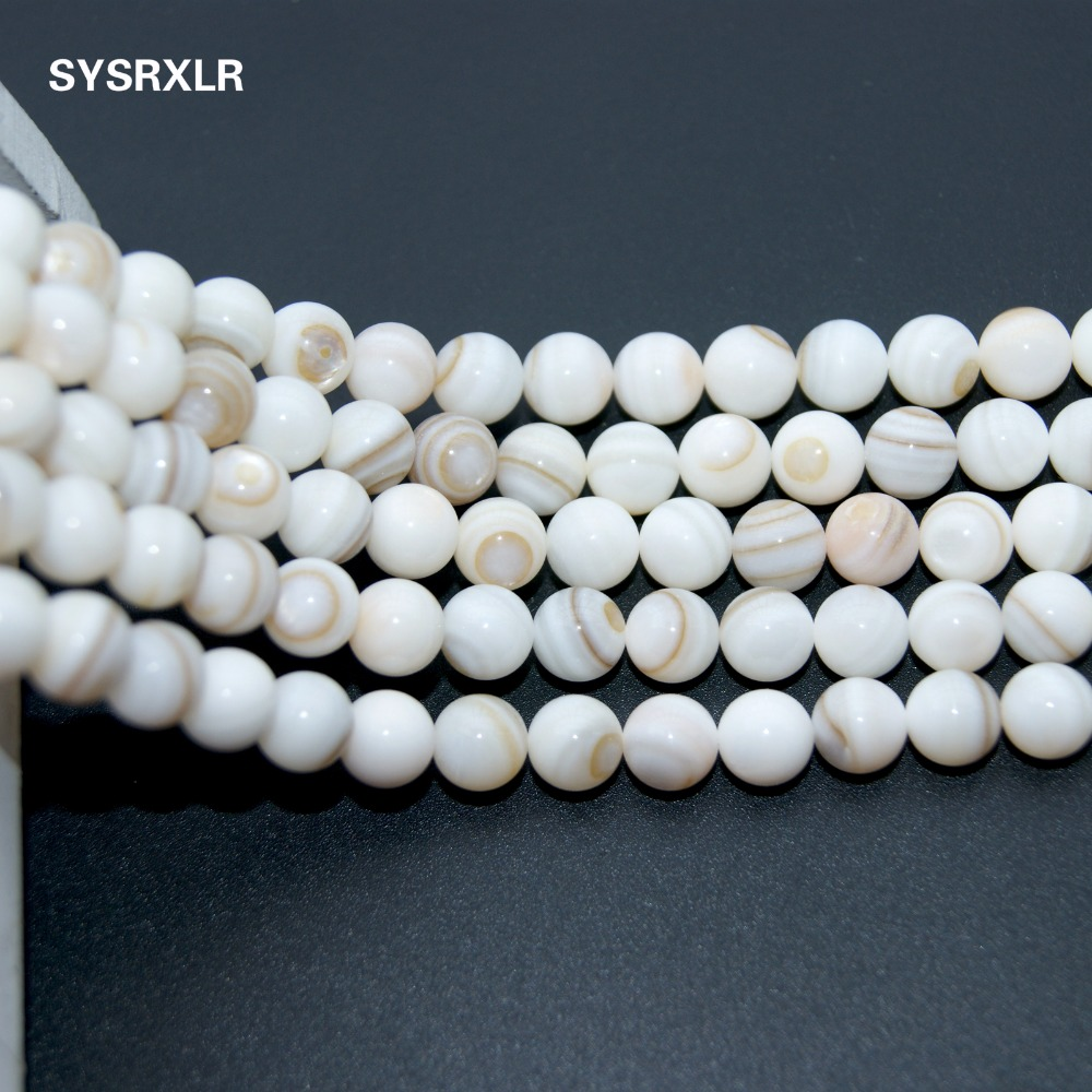 "Wholesale Charm Natural Strip Chinese Shell Beads For The Jewelry Diy Bracelet Necklace Stone 5 / 6 / 7 / 8 MM 15.5 ""Strand"