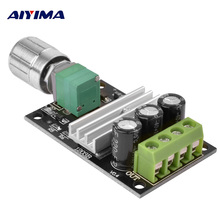 AIYIMA Mini PWM 3A 70W DC Motor 6V 12V 24V 28V Controller Module Adjustable speed Regulator Control Governor Switch DC-DC 0-28V