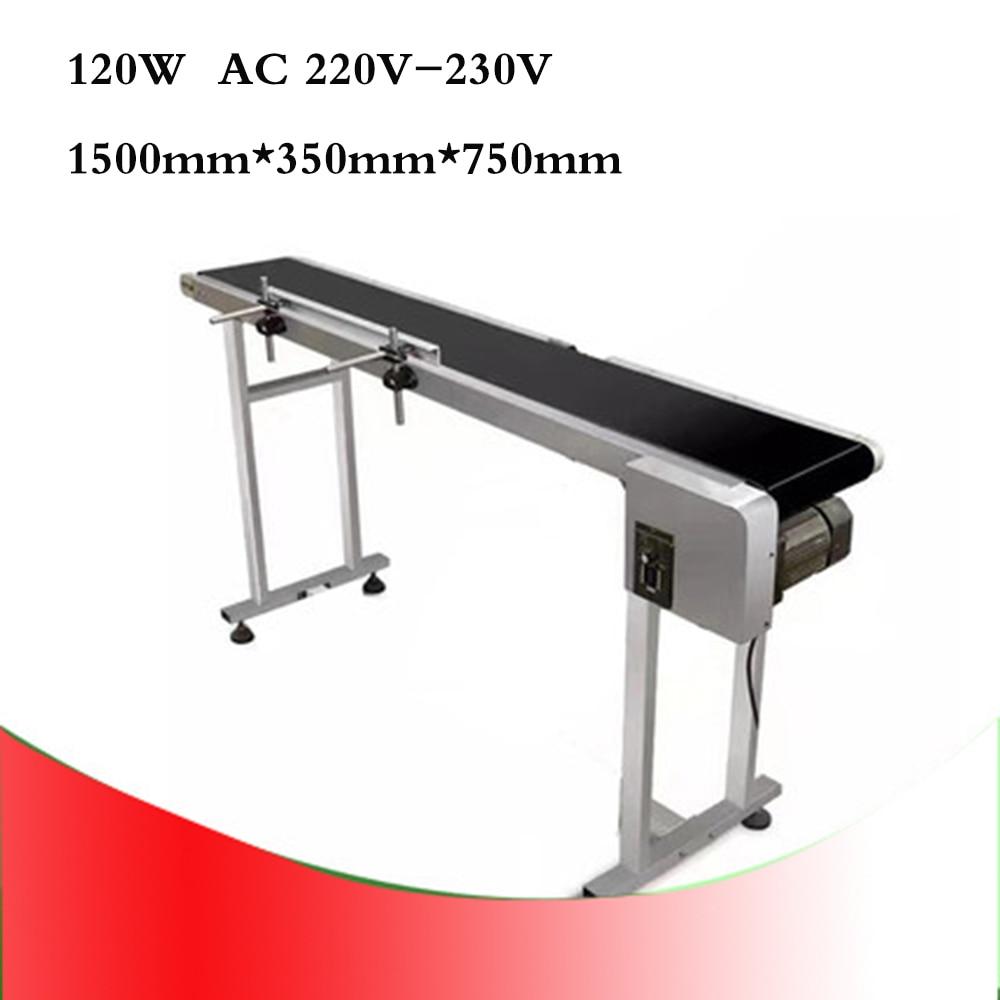 120w Inkjet Printer Conveyor Belt Conveyor Conveying Table Band Pipeline Carrier With 300mm Belt Width