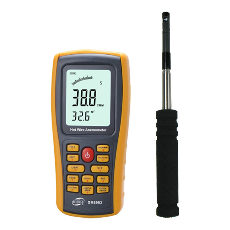 Anémomètre Portable thermosensible fil chaud numérique haute précision anémomètre brise instrument de mesure