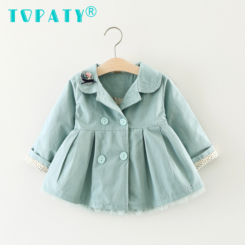 Brand New Girl Cats Embroidery Lapel Coat Baby Girl Dress Infant Clothing Vestido Infantil Bebe Clothes Bebek Elbise Kid clothes