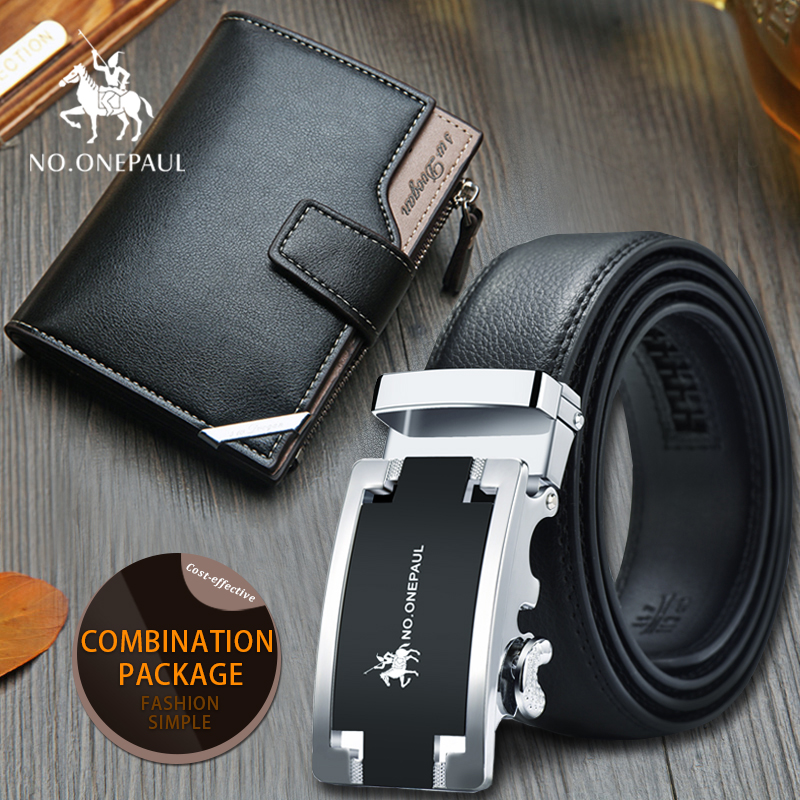 Set/sets Suit Men's Business Fashion Belt Jeans Belt With Silver-edged Leather  Large Amount Of Money, High Quality Factory Man