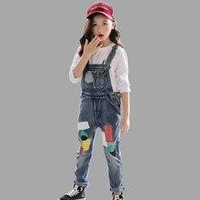 f43791776 Abesay moda vaquera Mono para niñas Patchwork geométrica los niños monos  Otoño Invierno adolescente Ropa para Niñas 6 8 12 años