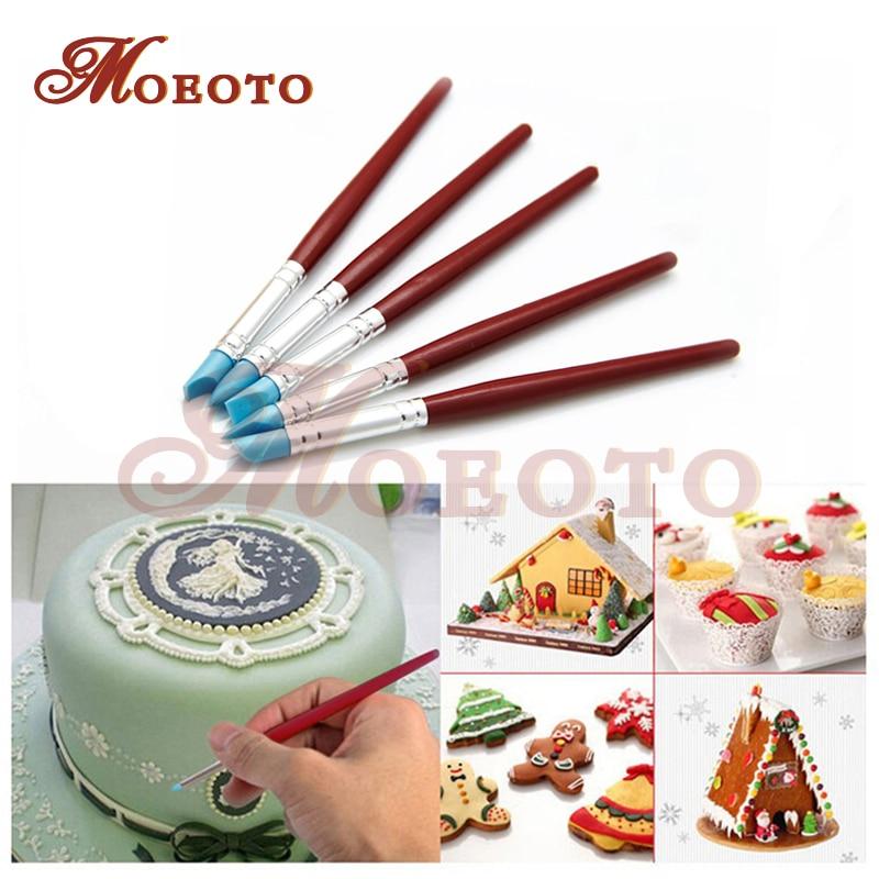 Cake Decorating Set : Aliexpress.com : Buy Cake Decorating Silicone Brush Set 5 ...