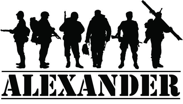 Custom made personalized custom name military army soldiers wall decal home decor sticker decor you
