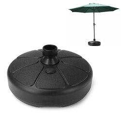Portable Durable Outdoor Parasol Garden Umbrella Base Stand Round Patio Beach Garden Patio Umbrella Holder Sun Shelter Accessory