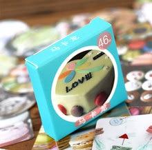 46 Pcs/bag kawaii Macaron Mini Paper Decoration DIY Scrapbook Notebook Album  Sticker Stationery Kawaii Girl