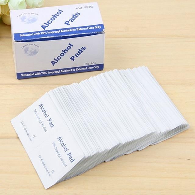 36 unidades antiunids flogosis Alcohol isopropílico Swab almohadillas pieza limpieza antiséptica cuidado de la limpieza de la piel Primeros Auxilios