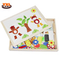 Multifunctional Educational Wooden Magnetic Puzzle Toys for Children Kids Toys Baby's Erasable Drawing Board Animal Jigsaw -45