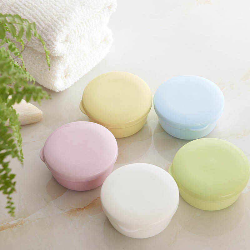 Tragbare Farbe Seife Dish Box Fall Halter Container Waschen Dusche Hause Bad Versiegelt Seife Fall Runde Reise Liefert
