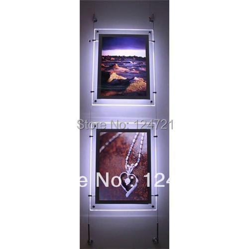 iluminacao led pendurado moldura de acrilico frameless alto brilho super slim lightbox propaganda 2 pcs lote