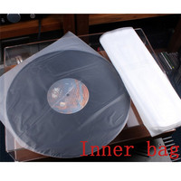 LEORY NEW 100PCS12'' 32cm*32cm Lp Protection Storage Inner Bag for Turntable Vinyl CD player Record Outer Bag Thickness