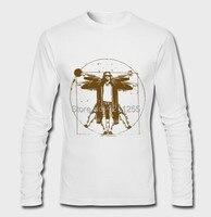 Men's Big Lebowski Vitruvian Da Vinci Graphic Long Sleeve T-Shirt 100% Cotton Printed Custom Long Sleeve T Shirt Size S~3XL