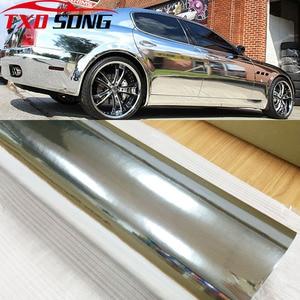 Image 1 - 7 Sizes High stretchable mirror silver Chrome Mirror flexible Vinyl Wrap Sheet Roll Film Car Sticker Decal Sheet