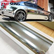 7 tamanhos de alta stretchable espelho prata chrome espelho flexível vinil envoltório folha rolo filme etiqueta do carro decalque folha