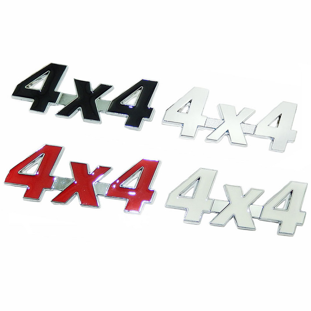 3D 4x4 Displacement Car Stickers Logo Emblem Badge Truck Auto SUV Motor Car Styling Four Wheel Drive Sticker Decal For Jeep ...