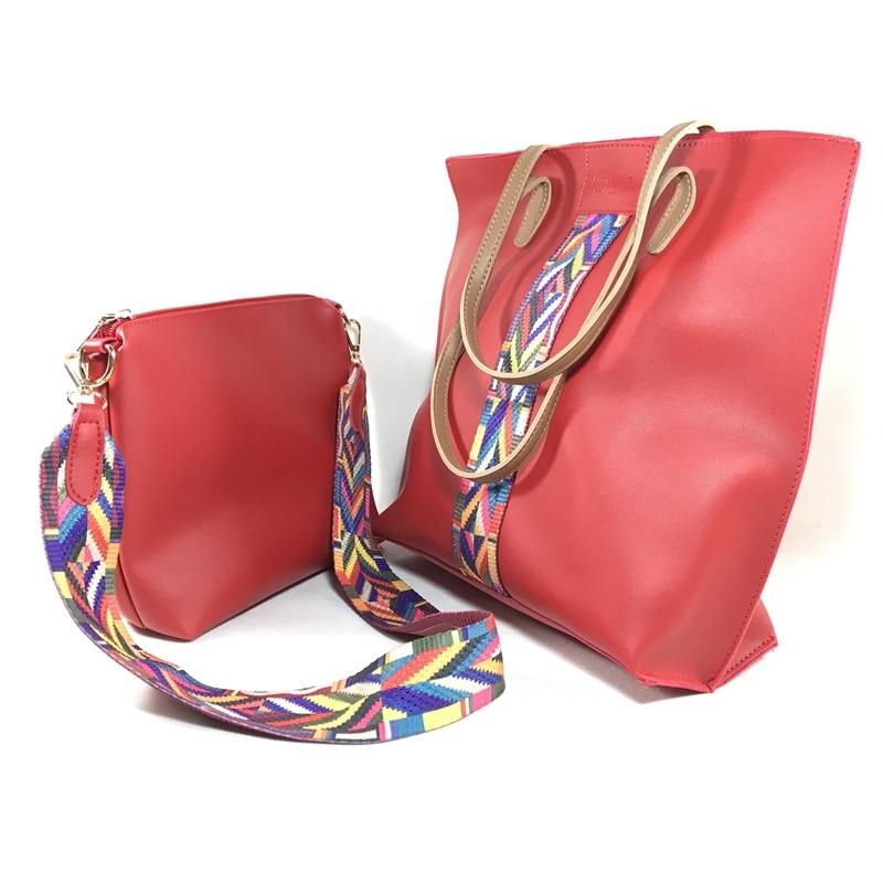 ženska torba Nacionalni vjetar velike boje traka ramena torba - Torbe - Foto 3