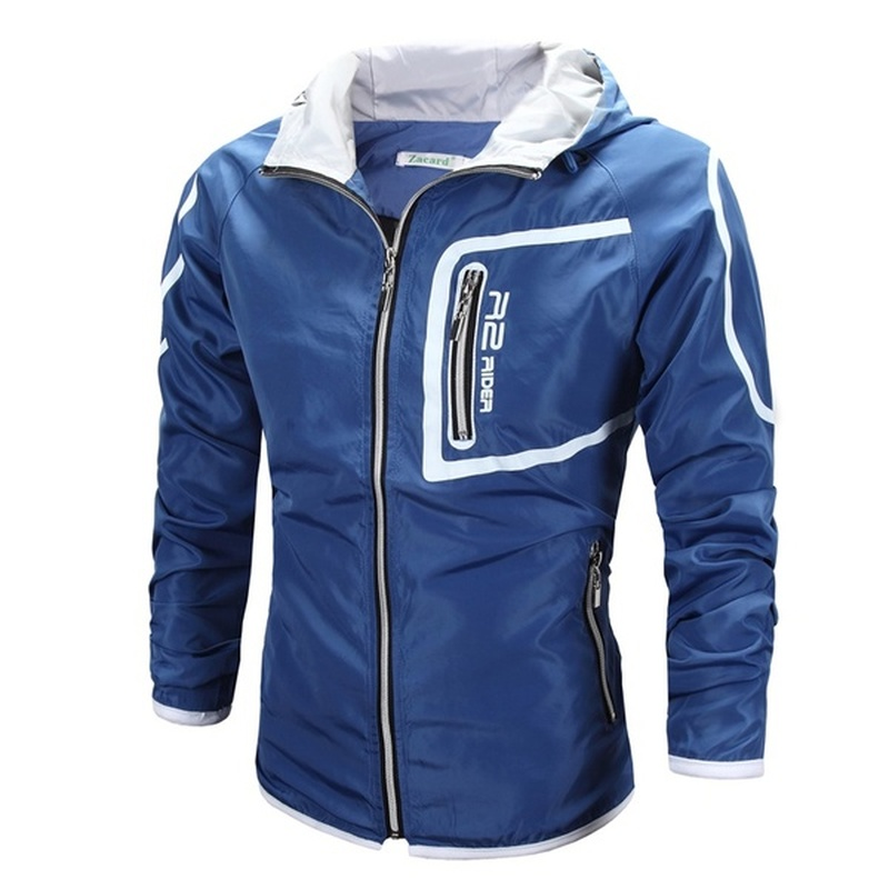 ZOGAA New Spring and Summer Mens Jacket Sunscreen Printing Slim Casual Winter Men Clothes