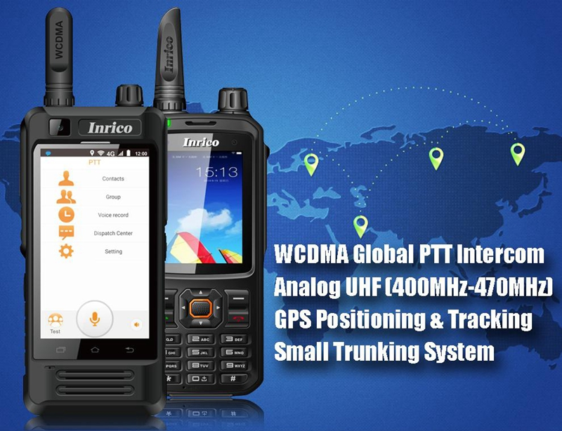 Original Inrico T298S SIM 3G WCDMA Walkie Talkie Mobile Phone 4000mAh battery with touch Screen public network radio Android
